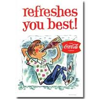 Coke refreshes